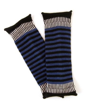 Armstulpen MIO blau - 100 Wolle Merino