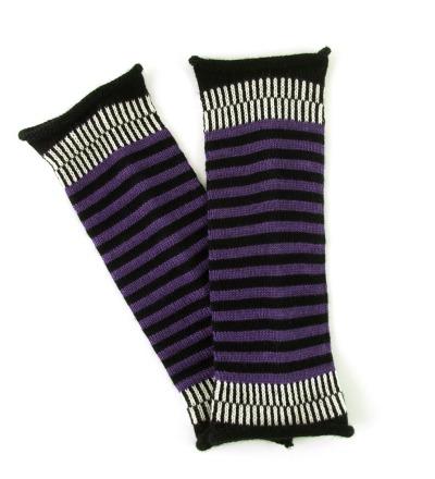 Armstulpen MIO violett - 100 Wolle Merino