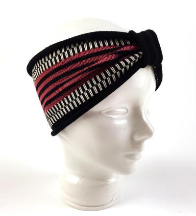 Stirnband MIO magenta - Merinowollmix