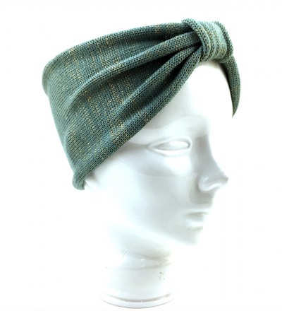 Stirnband EVE aquagold - 100 Wolle Merino