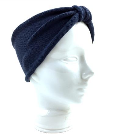 Stirnband EVE blau - 100 Wolle Merino