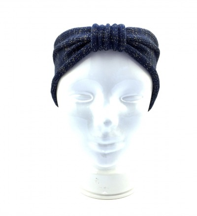 Stirnband EVE blaugold - 100 Wolle Merino