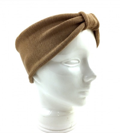 Stirnband EVE camel - 100 Wolle Merino