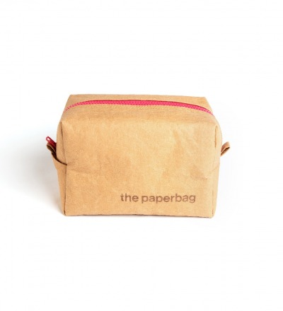 Cosmetic bag - brown | pink