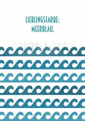 Meerblau - Größe 13 18 cm