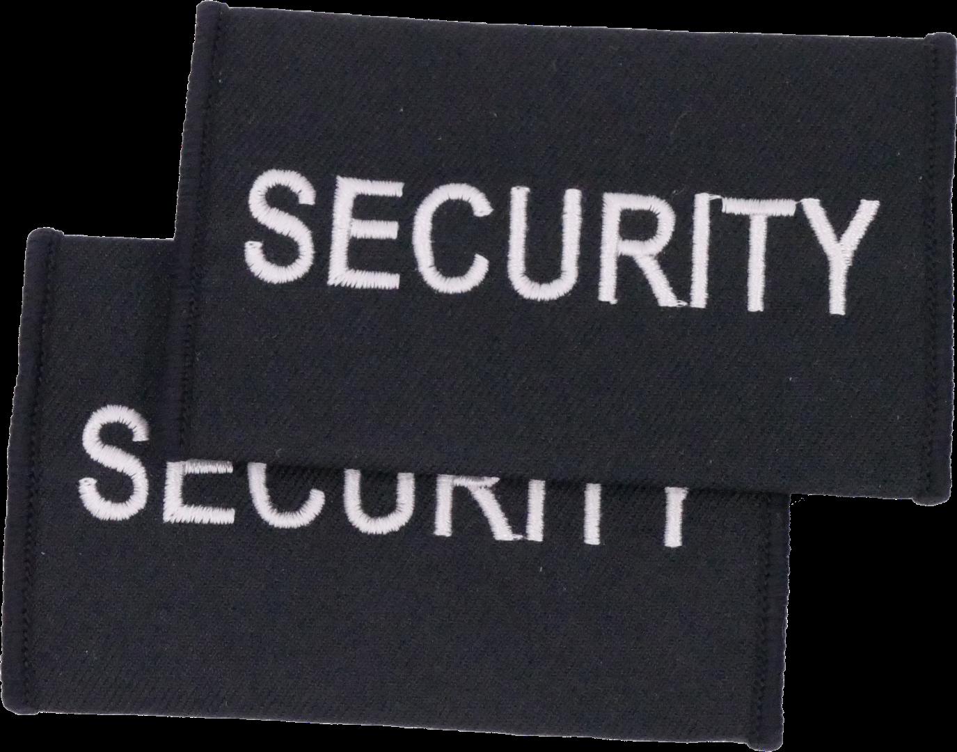 SECURITY grau auf black