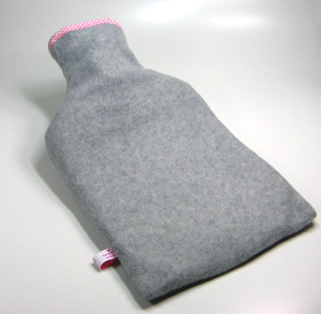 Wärmflasche Graumeliert mit Reh und Herzchen