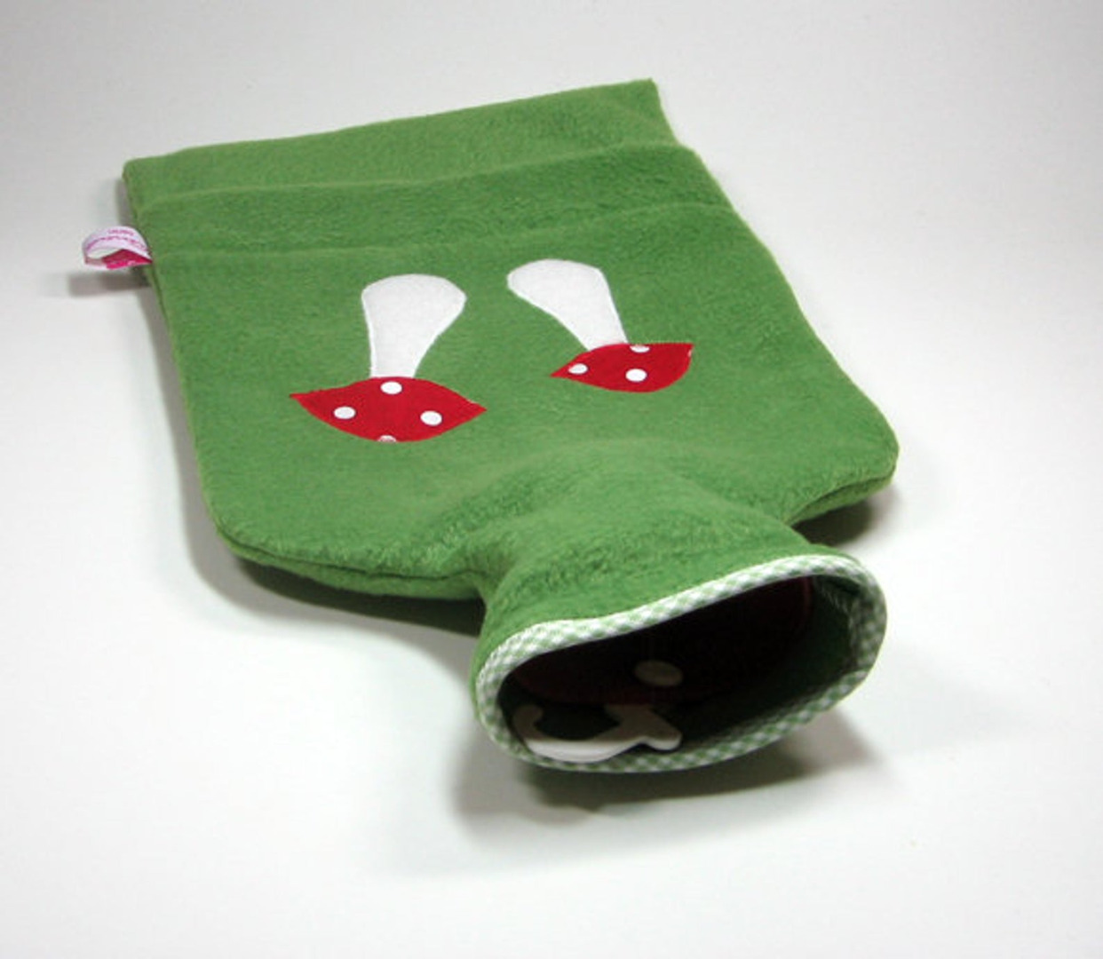 Wärmflasche - Grün mt Fliegenpilz