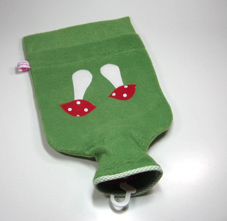 Wärmflasche - Grün mt Fliegenpilz 2