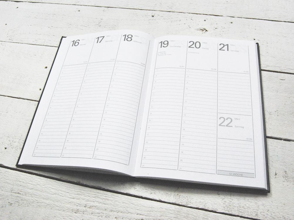 Taschenkalender DIN A5 für Blätter in