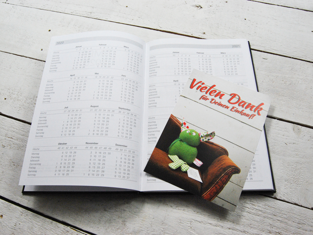 Taschenkalender DIN A5 für Blätter in - 4