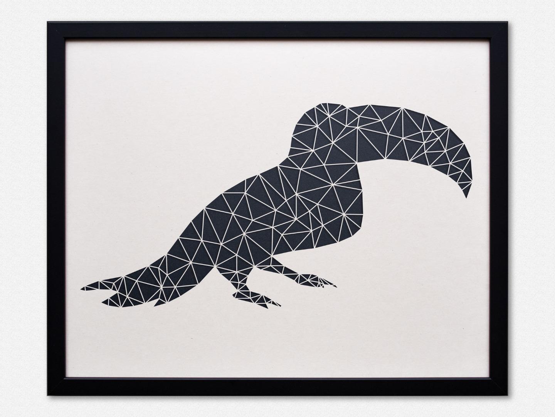 Geometrische Paper Art - Wanddeko TUKAN