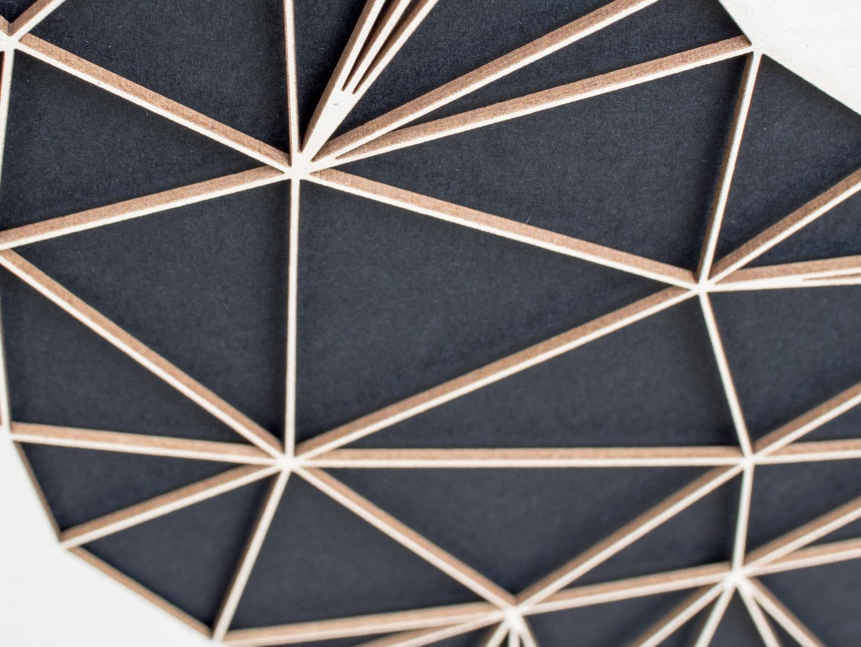 Geometrische Paper Art - Wanddeko T-REX