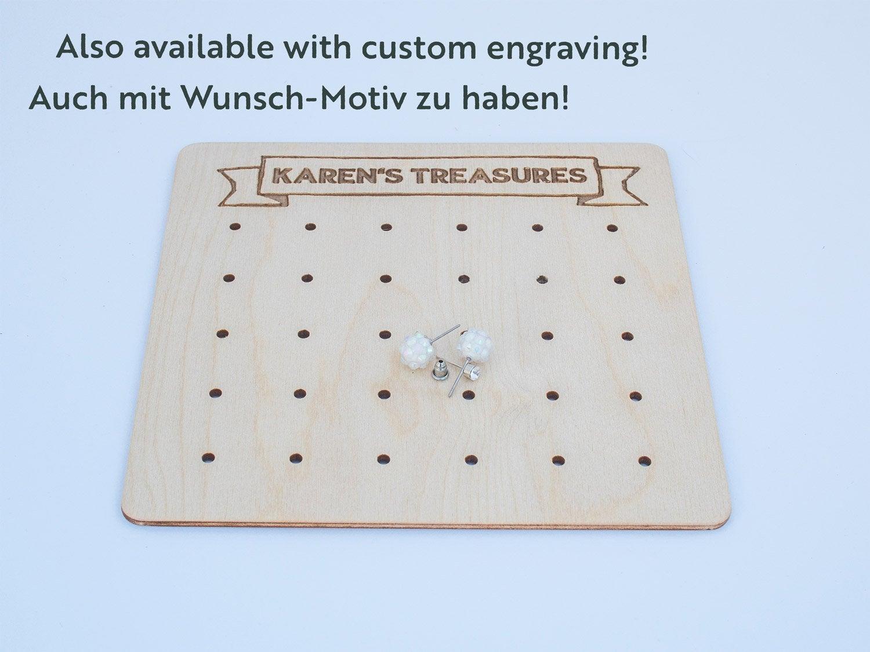 Moderne Ohrstecker Aufbewahrung aus Holz CARD - 10