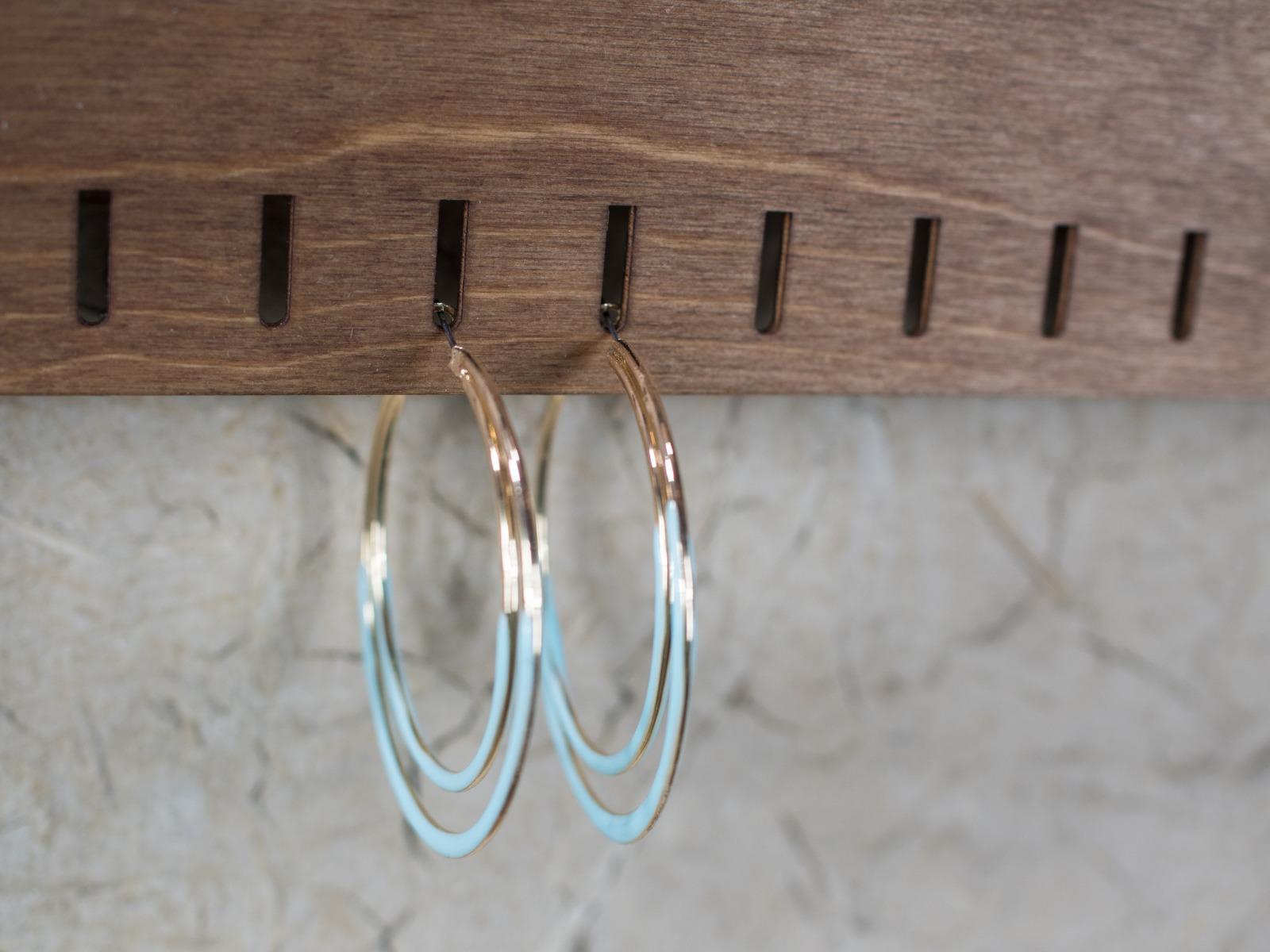 Ohrring Display aus Holz für die - 5