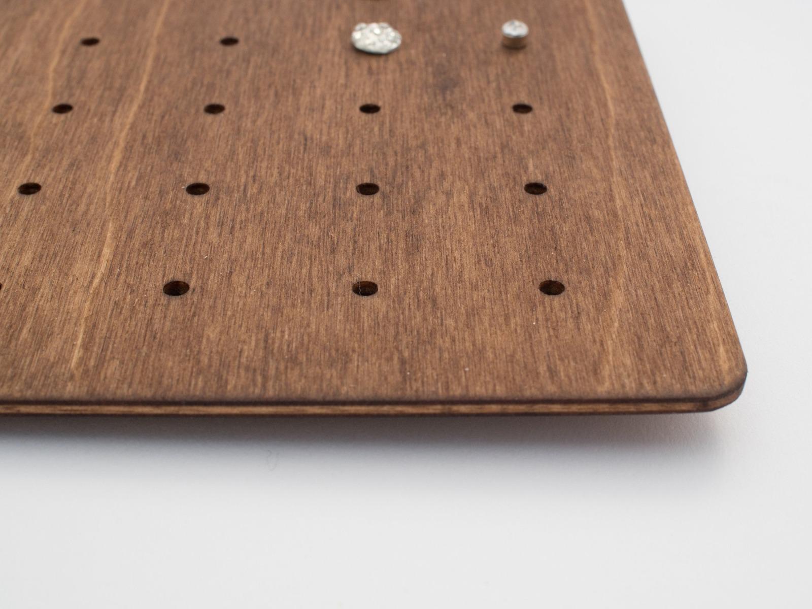 Modern Wooden Stud Earring Organizer CARD