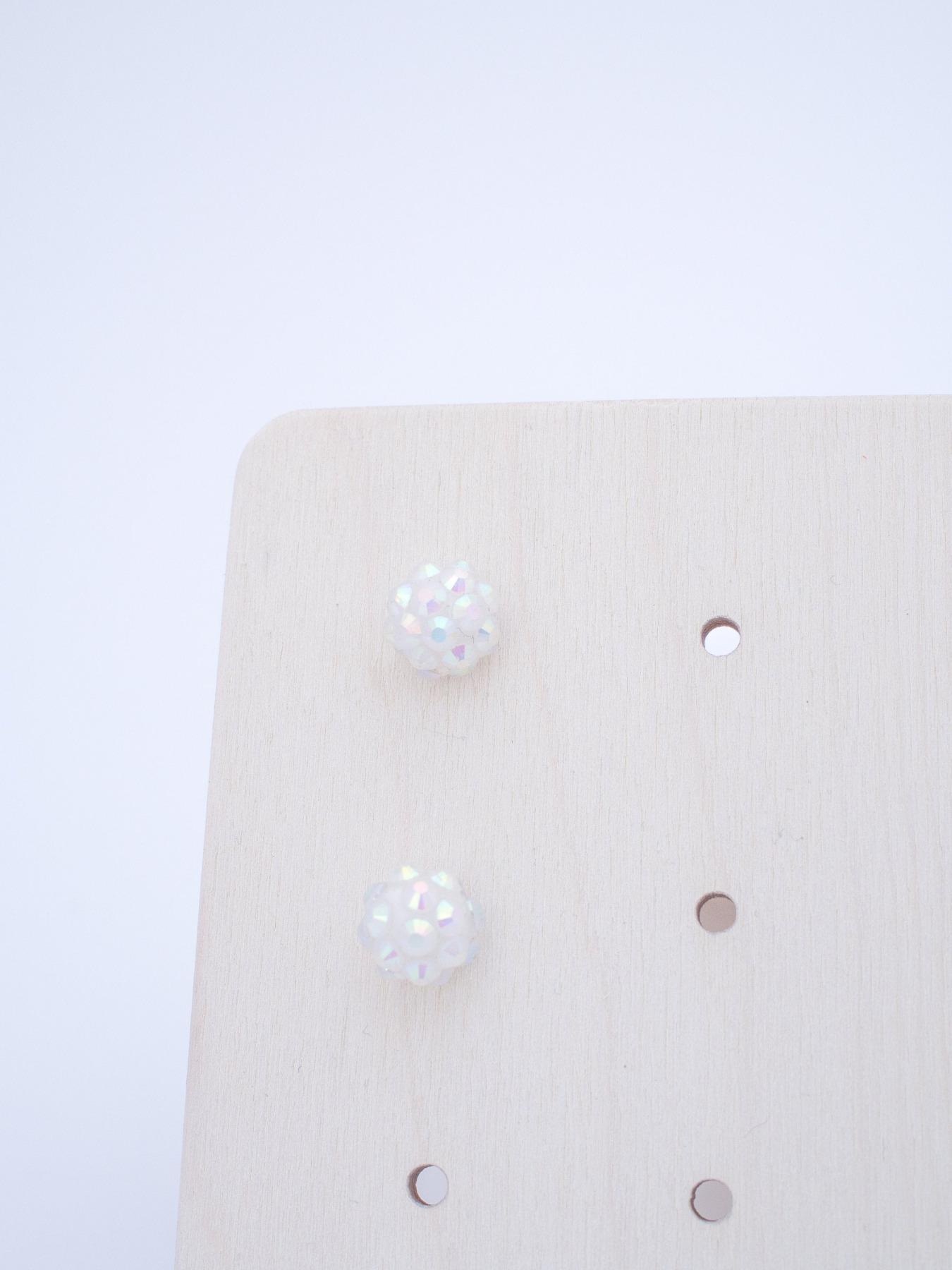 Moderne Ohrstecker Aufbewahrung aus Holz CARD - 7