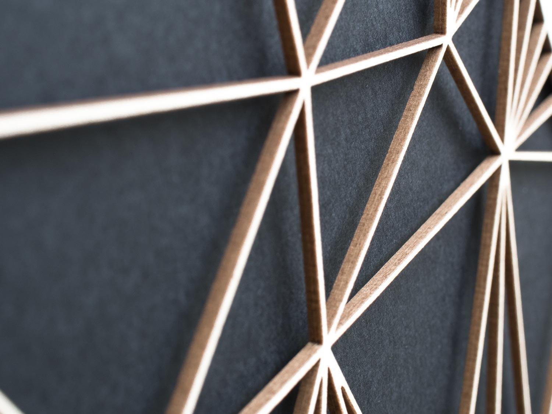 Minimalistische 3D Wanddekoration Polygon Kunst RABE