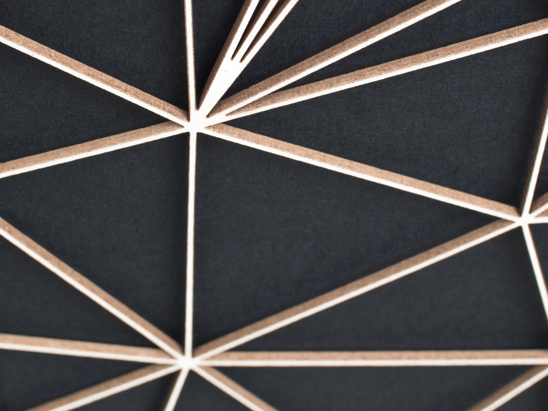 Geometrische Paper Art - Wanddeko FLAMINGO