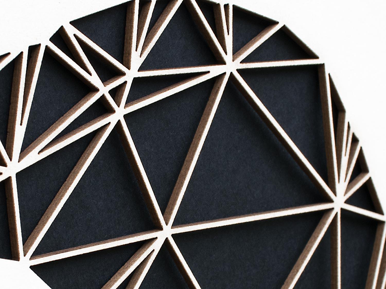 Geometrische Paper Art - Wanddeko RABE