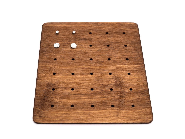 Moderne Ohrstecker Aufbewahrung aus Holz CARD