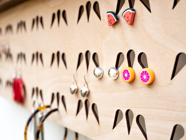 Handmade Earring Holder Wall Mounted WALL
