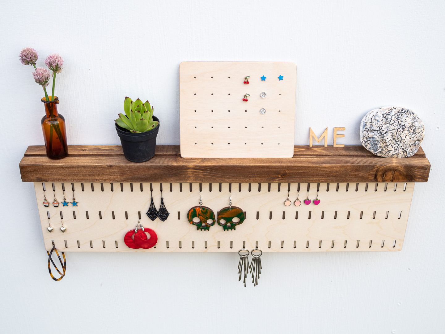 Wall Mounted Storage for Earrings optional