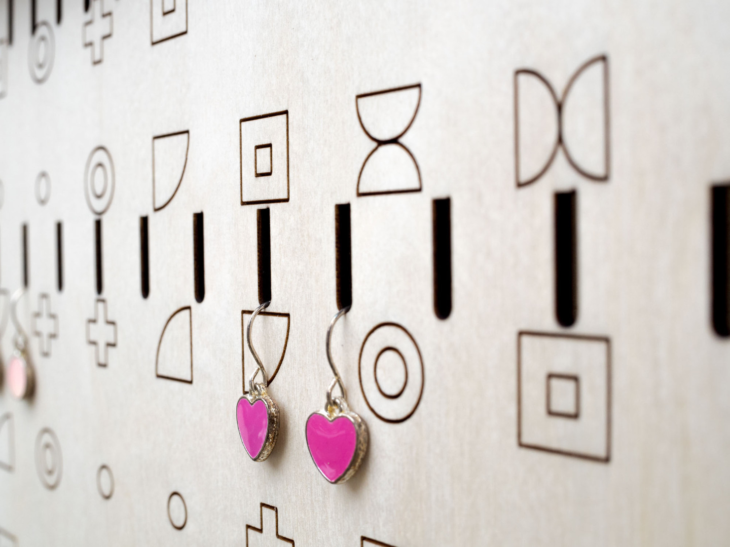 Wall Mounted Jewelry Storage Display with