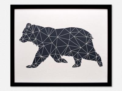 Geometrische Paper Art Wanddeko BÄR arborala