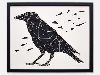 Geometrische Paper Art Wanddeko RABE arborala