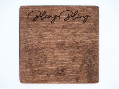 Wooden Stud Earring Display CARD CUSTOM