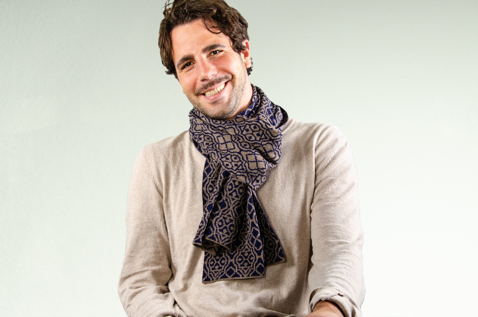 Merino scarf Net 3