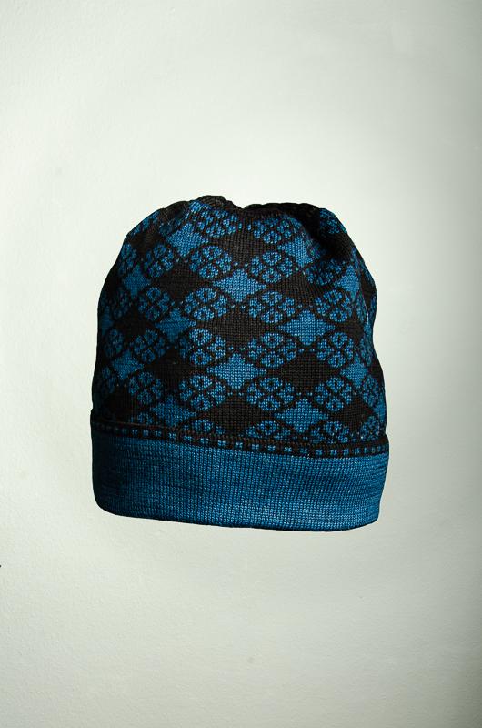 Mütze Blütenkaro