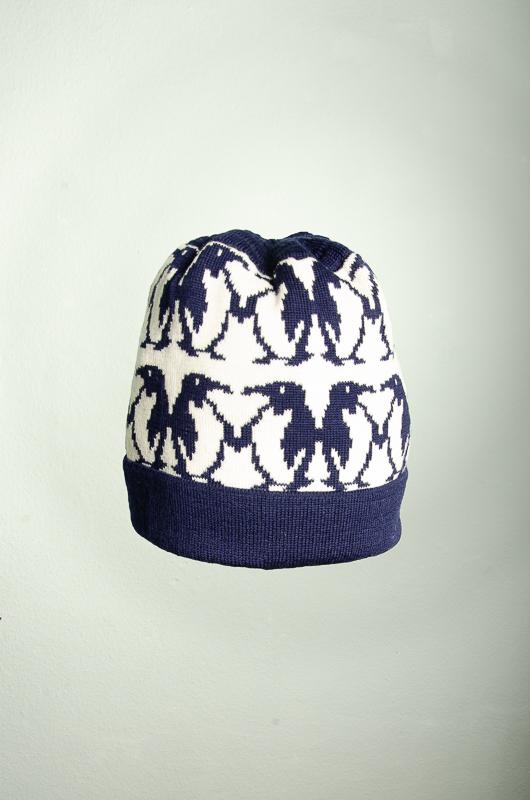 Merino Mütze Pinguin in den Farben