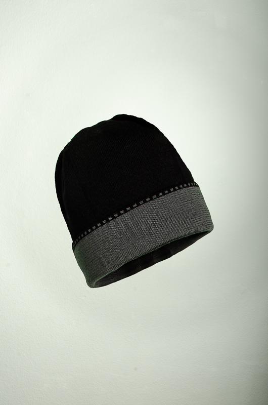 Merino Mütze uni in graphit und