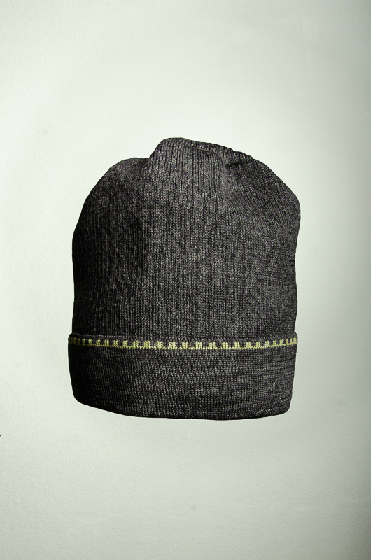 Merino Mütze und Pulswärmer in dunkelgrau