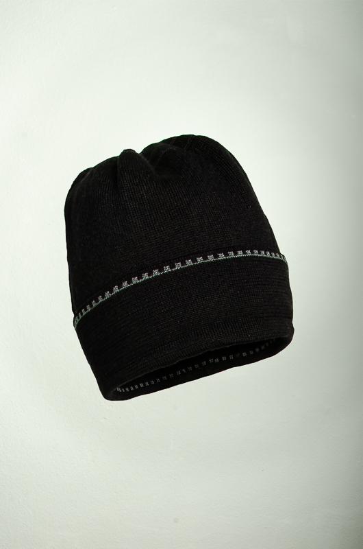 Merino Mütze in den Farben schwarz