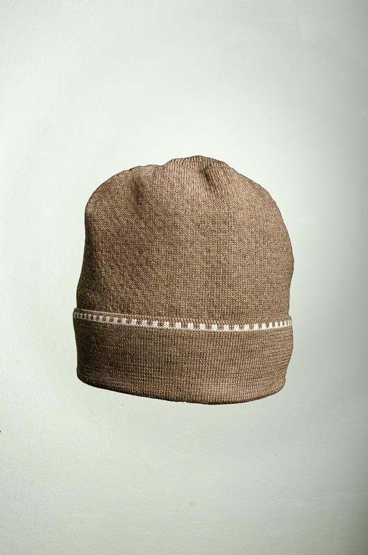 Merino Mütze uni in taupe und