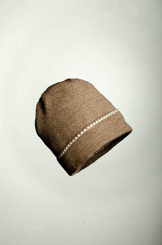 Merino Mütze und Pulswärmer Muster in