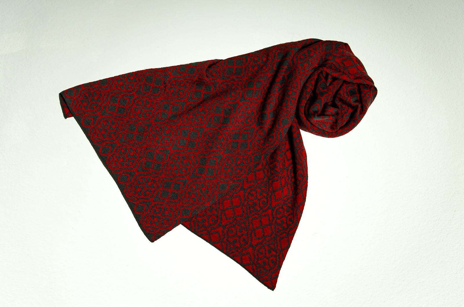 Merino Schal Netz in grau und