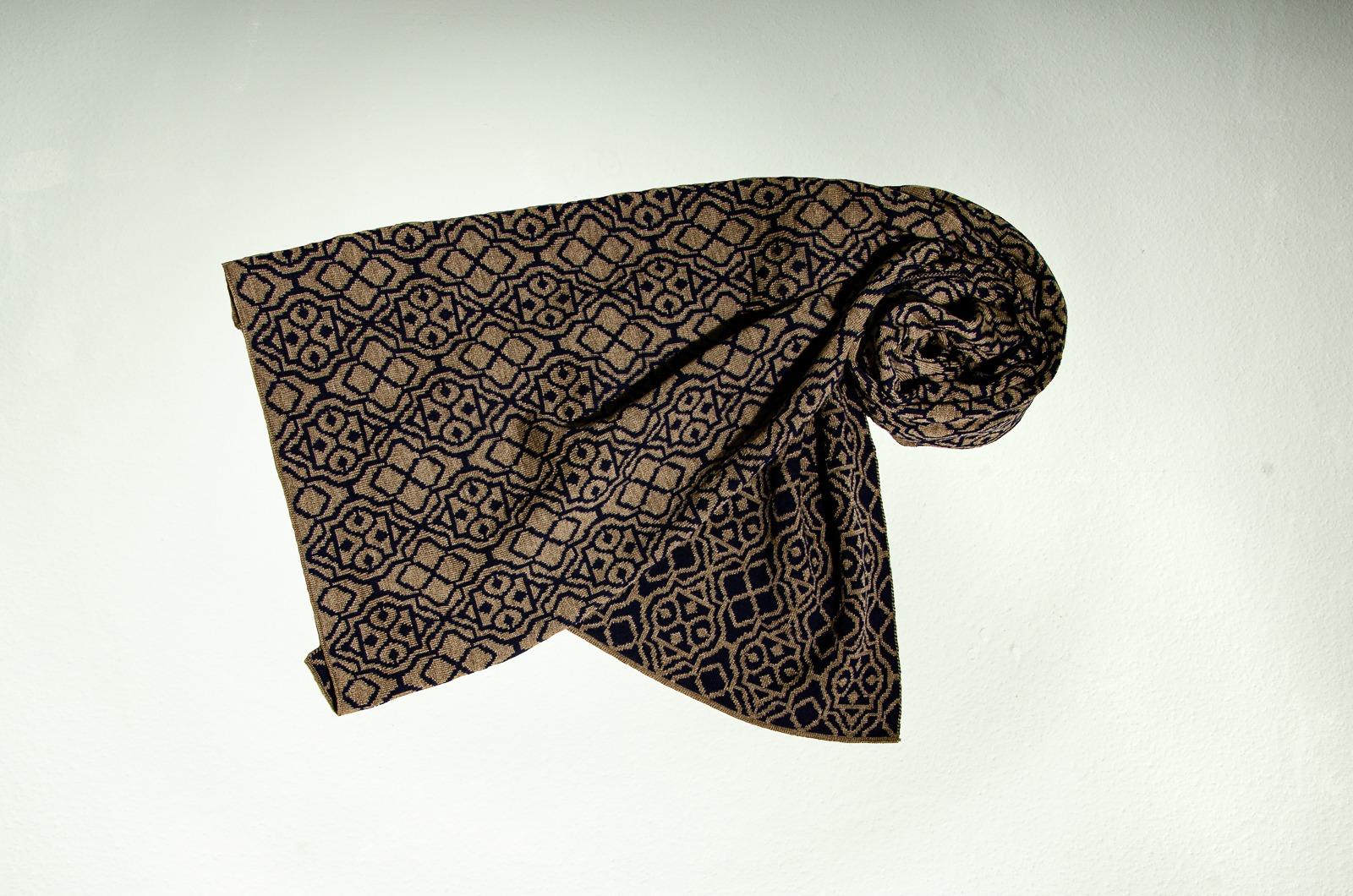 Merino Schal und Mütze Netz in