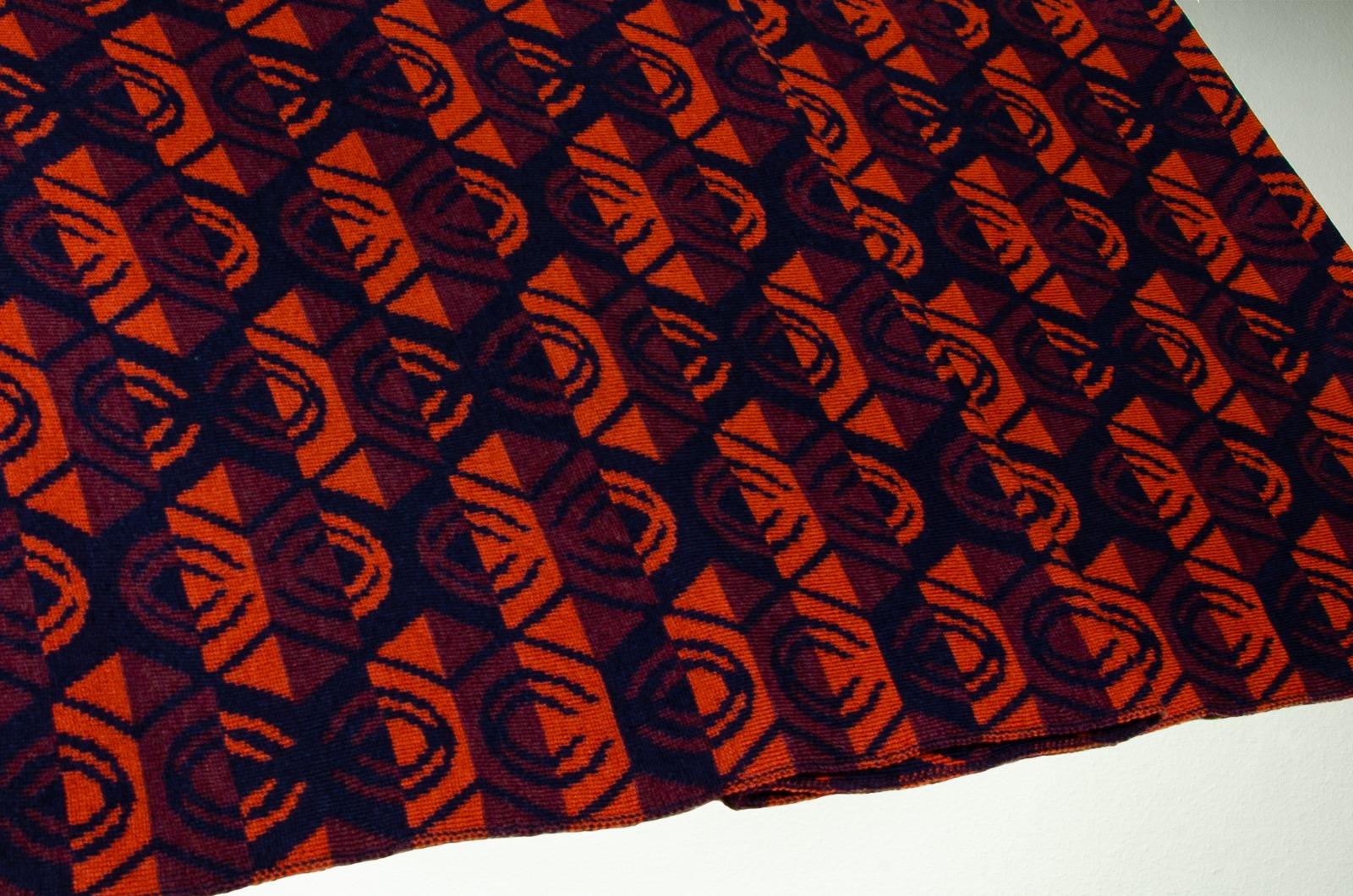 Merino scarf Lotus triple-couloured