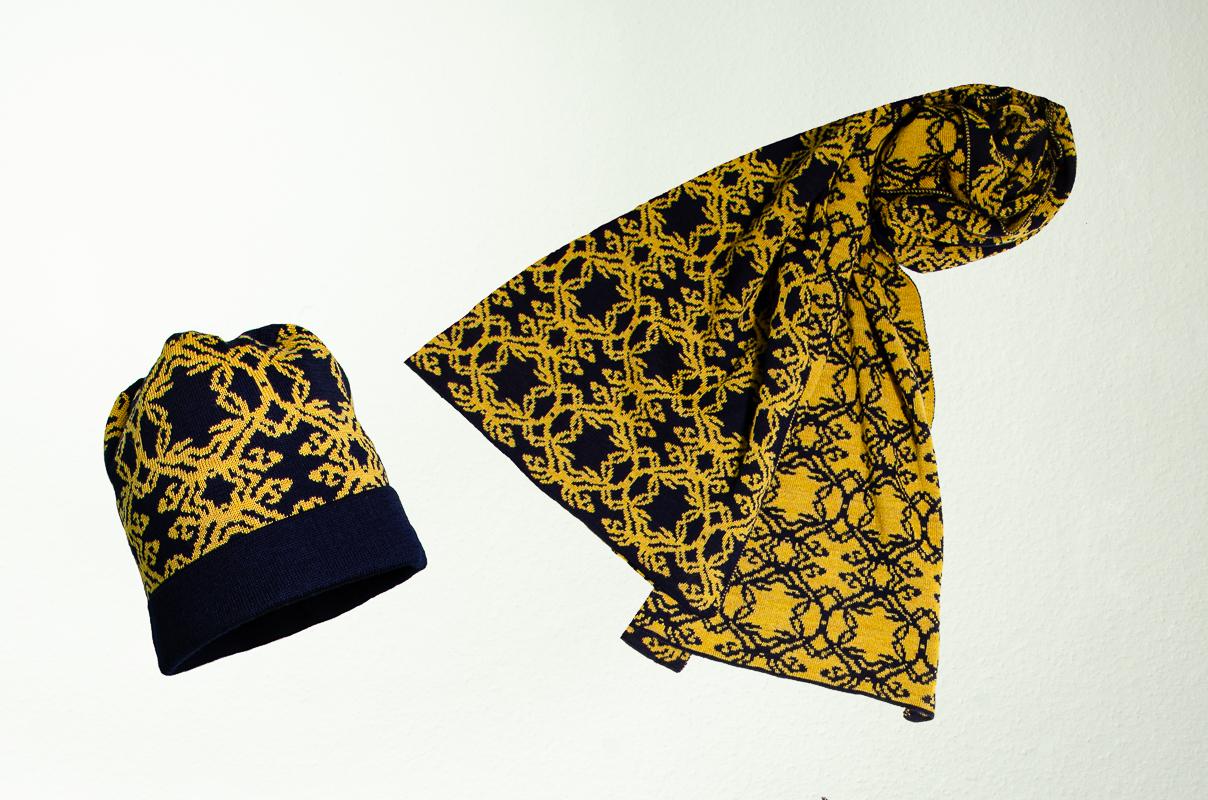 Mütze und Schal Kranz
