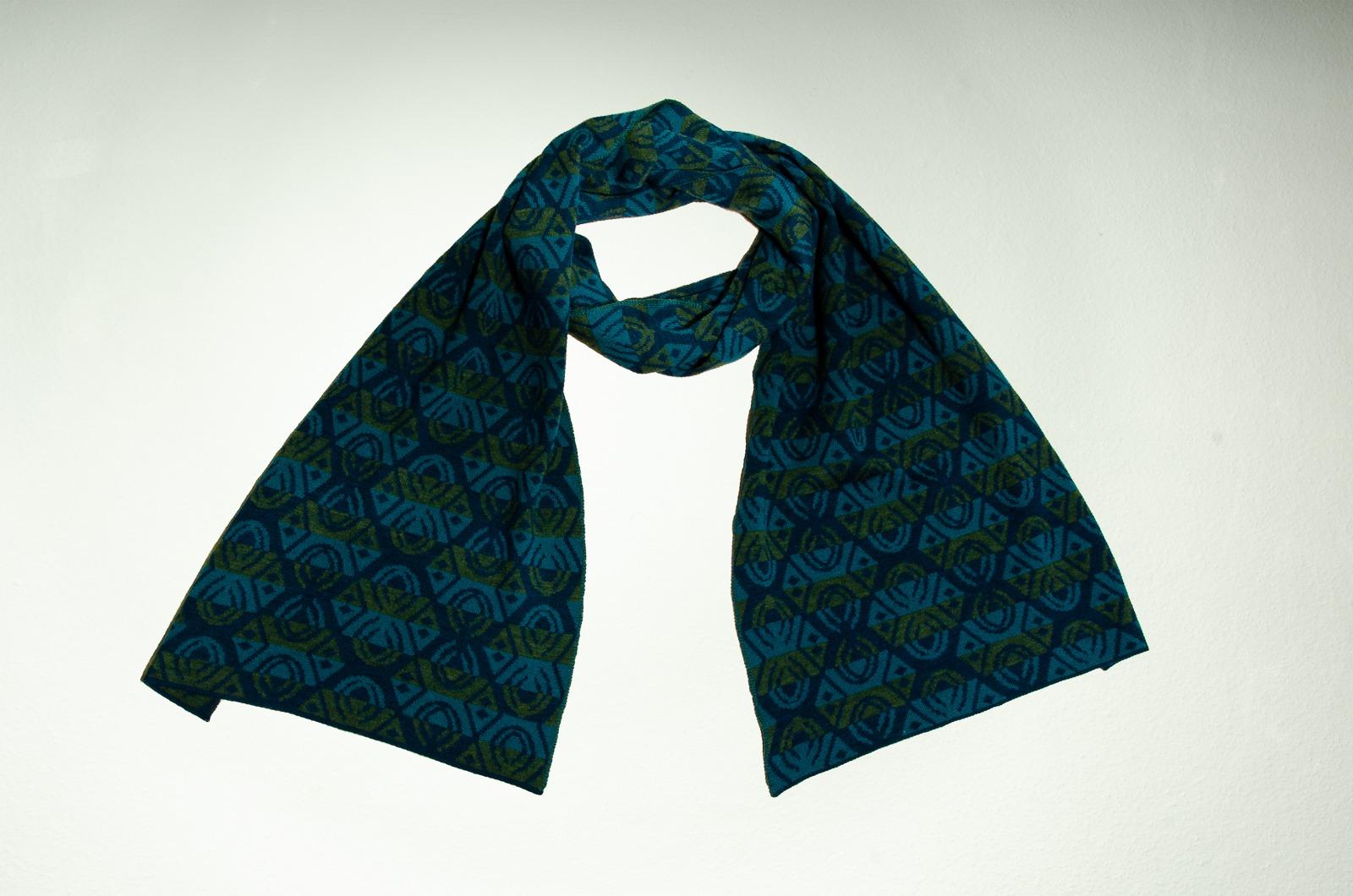 Merino scarf Lotus triple-coloured 3