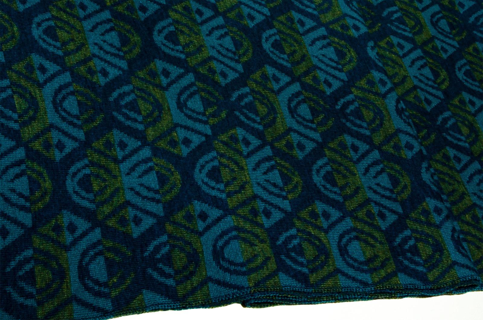 Merino scarf Lotus triple-coloured