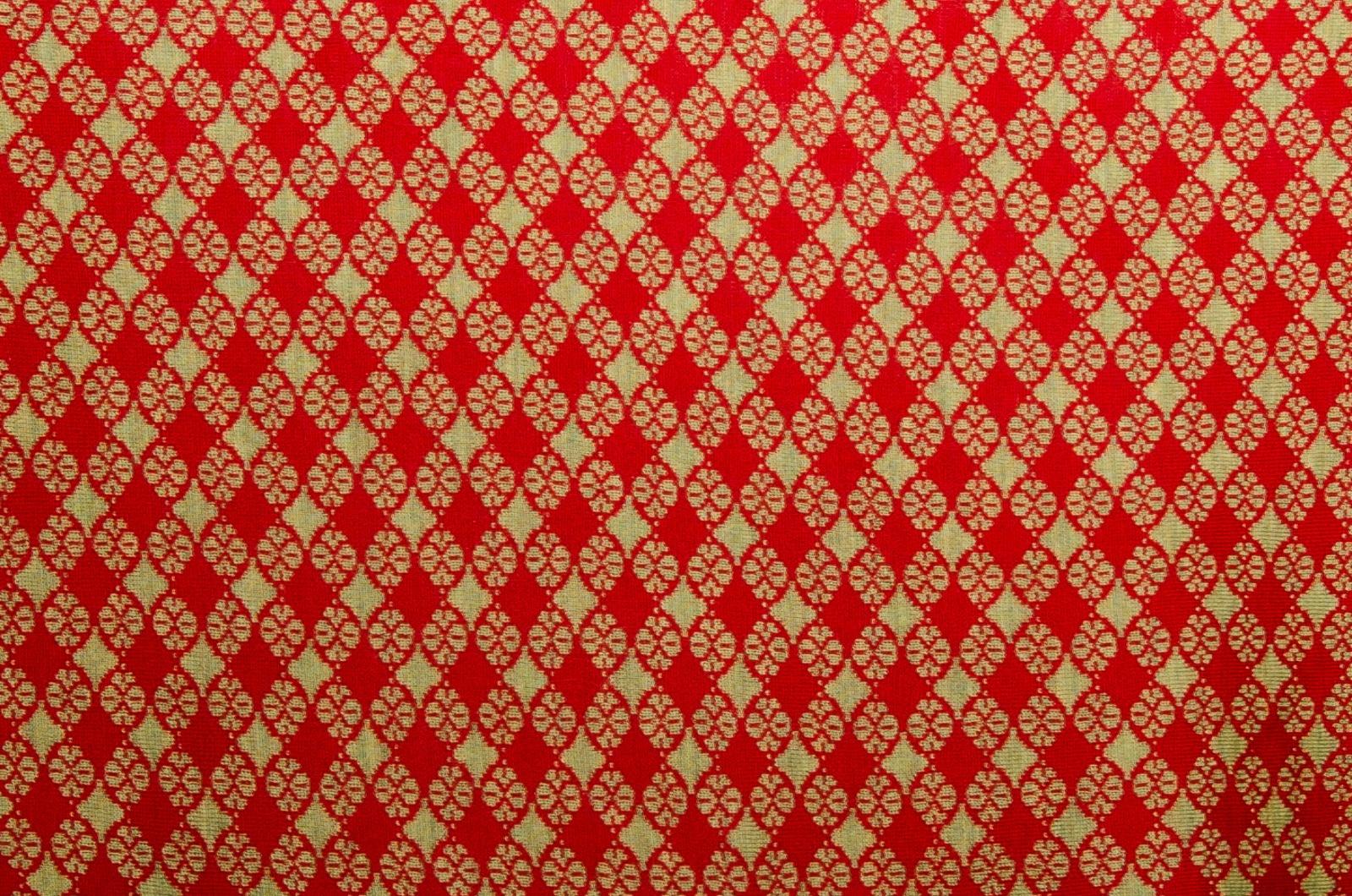 Merino Stola Blütenkaro Damen in rot