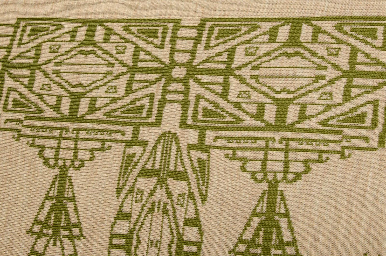 Merino Stola dreieckiges Schultertuch Aztek Damen