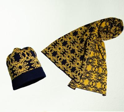 Mütze und Schal Kranz in den