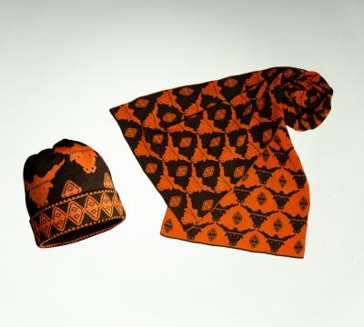 Mütze und Schal Stier in den