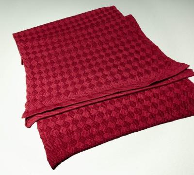 Merino scarf Dragon-Fly Colours: anthracite creme
